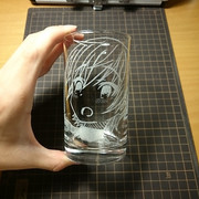 【ガラスエングレービング】直樹美紀【がっこうぐらし!】
