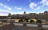 金沢城三之丸より本丸櫓群を望む