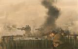 土煙の戦場