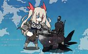 伊507が連装砲を手入れするだけ
