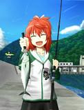 海釣りをした