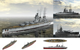 MMD用モブ超弩級戦艦1930セット