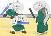 魂魄姉妹(爺ちゃんと遊ぶ)