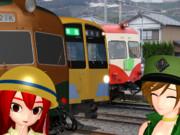 新金谷駅にて