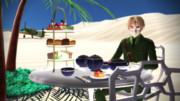 【APヘタリアMMD】サハラ砂漠でお茶を