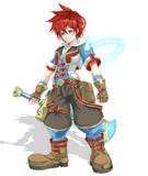 飛行島の赤髪剣士