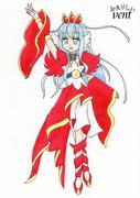 第六駆逐隊に(プリンセス)プリキュアの格好をしてもらった。〔2番艦・響×キュアスカーレット〕