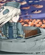 Uボートで帰るゆーちゃん
