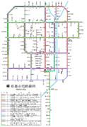 京都市電路線図