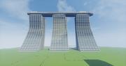 【Minecraft】シンガポールのホテルもどきをつくってみた