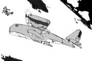 空中戦のアニメーション