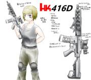 銃娘「フーカ(HK416)」