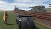 列車砲の風景