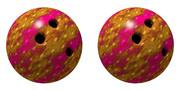 立体視画像74「ボウリングボール」