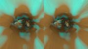 立体視画像78「ミントチョコ洞窟」