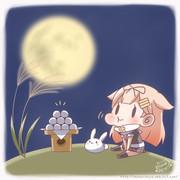 お月見ぽいぬちゃん
