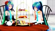 【MMD】照れミクで お茶会モーション配布中