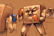 ボクシングをする角砂糖