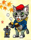 シマ猫カブと焼き芋