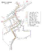 横浜市電路線図