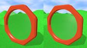 立体視画像85「八角形の鏡」