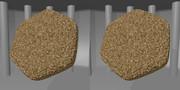 立体視画像87「六角形のきびだんご(黍団子)」