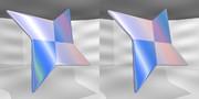 立体視画像90「パール折り紙手裏剣」