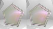 立体視画像91「パールの五角形コースター」