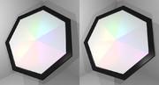 立体視画像92「七角形コースター」