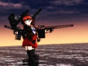 千代田甲と夕焼けの海