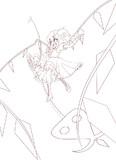 超EXフランちゃん(線画)