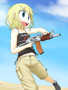 AKS74Uを連射したいお年頃の孫シューターちゃん