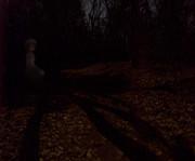 雪歩 月夜 写真合成