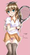 テニス選手みたいとよく言われるあの子