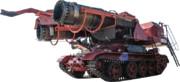 ミグ21のジェットエンジンが搭載された世界最高パワーの消防車大風くん.透過PNG