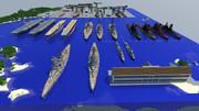 【Minecraft】マイクラで建造した船を集合させてみた