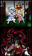 チルノとクラピちゃんのめっちゃ楽しいハロウィン☆ in博麗神社♪