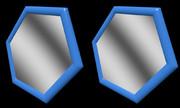 立体視画像123「六角形の鏡」