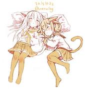 響ネコと雷ネコ
