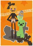 かぼちゃとおばけが やってくる