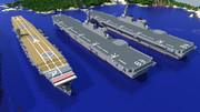 【Minecraft】いずも型護衛艦2隻と赤城