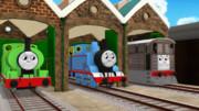 支線で働く三台の機関車