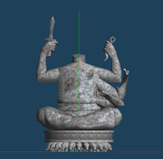 【MMD銀魂】伊賀の里 西の岸壁 摩利支天の彫像前【作りかけステージ】