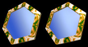 立体視画像134「六角形の鏡」