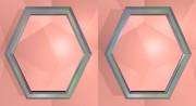 立体視画像136「六角形の鏡」