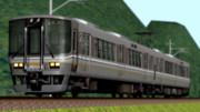 山間のワンマン列車。