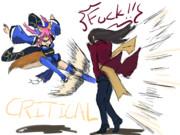 キャス狐さん怒りの去勢拳