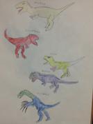 獣脚竜5匹組