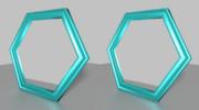 立体視画像140「六角形の鏡」