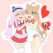 【花騎士】ハナモモとエロネコグサ【描けば出る!】
